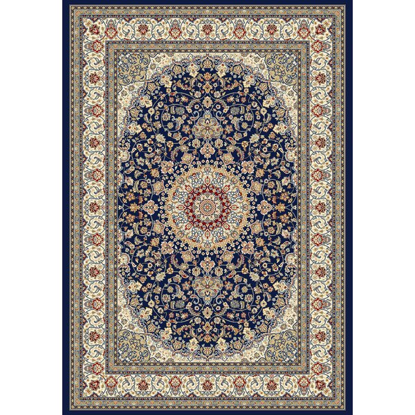 Attell Oriental Blue/Ivory Area Rug by Astoria Grand