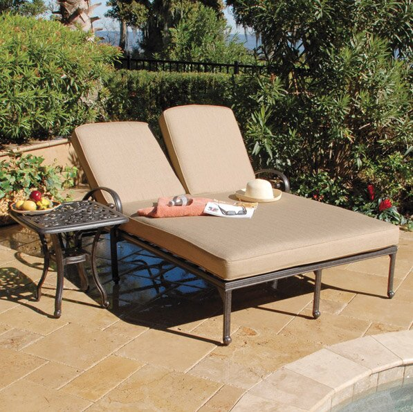 Maravilla Double Chaise Lounge with Cushions by Art Frame Direct