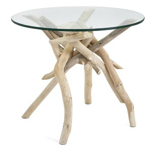 Inshore Driftwood End Table by Rosecliff Heights