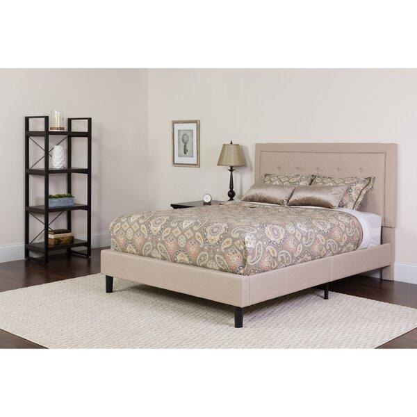 Porcaro Tufted Upholstered Platform Bed Charlton Home CHRH5702