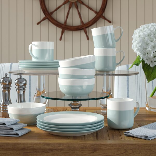 Linford Atelier Serene 16 Piece Dinnerware Set by Beachcrest Home