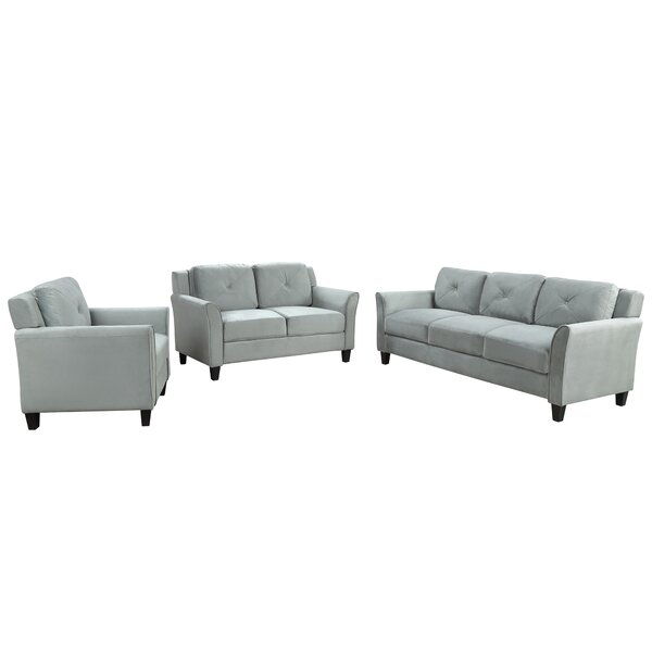 Chives Button Tufted 3 Piece Living Room Set By Red Barrel Studio