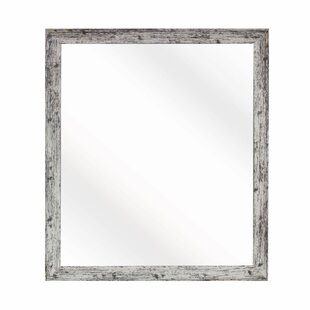 August Grove Square Weathered Farmhouse Accent Wall Mirror