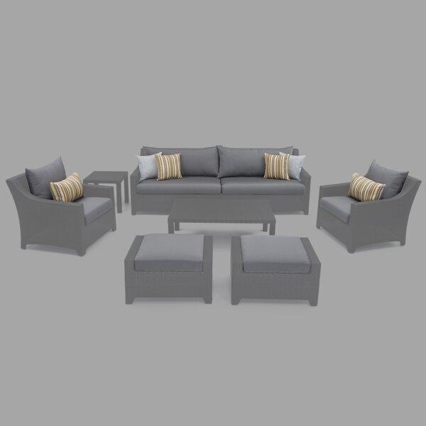 5 Piece Armchair/Ottoman Outdoor Cushion Cover Set By Alcott Hill