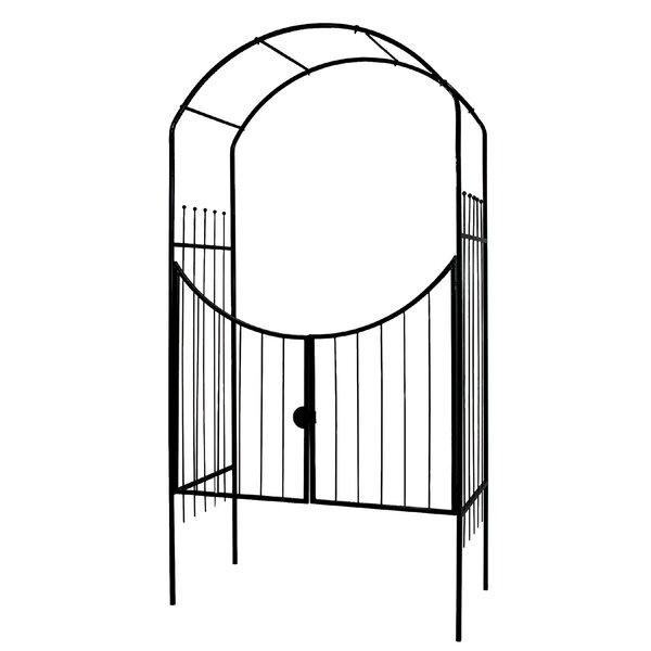 Savannah Steel Arbor with Gate by World Source Partners