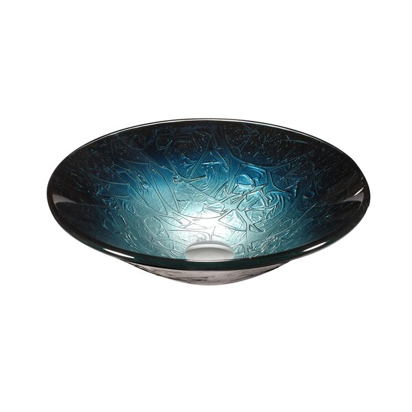 Glass Circular Vessel Bathroom Sink by Legion Furniture