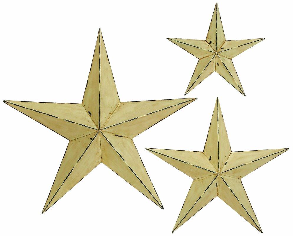 Star Wall Decor 3Piece Star Wall Decor Set & Reviews  Joss & Main