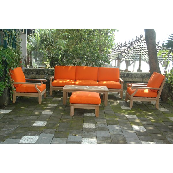 Gatsby Luxe 5 Piece Sectional Seating Group by Rosecliff Heights