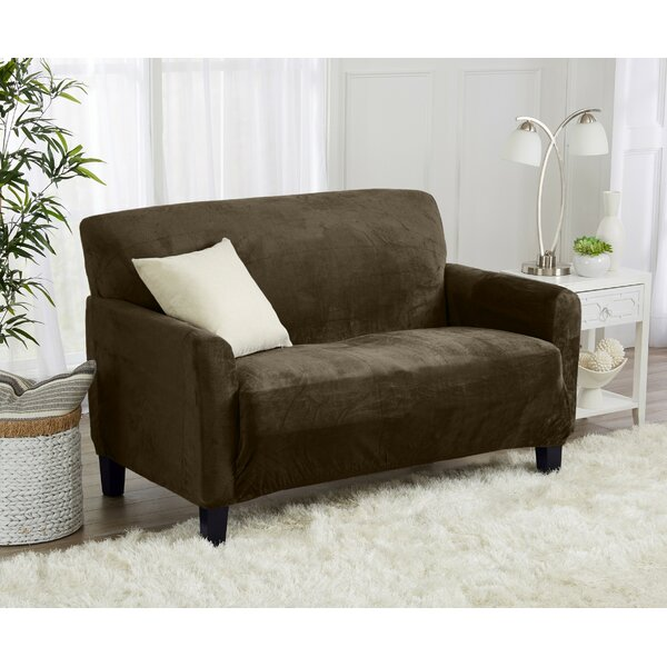Fit T-Cushion Loveseat Slipcover By Ebern Designs