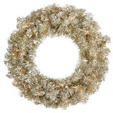 "30"" Artificial Sparkling Tinsel Christmas Wreath"