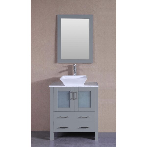 Turin 30 Single Bathroom Vanity Set with Mirror by Bosconi