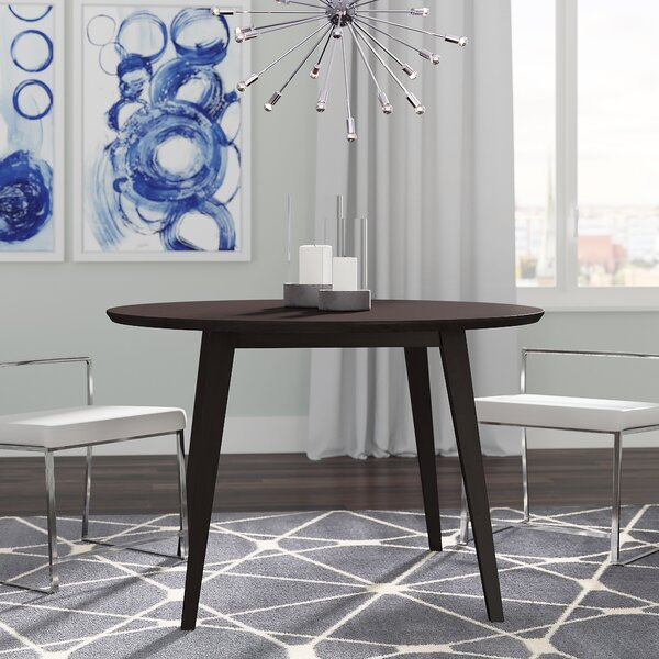 Gusman Round Stained Dining Table by Brayden Studio