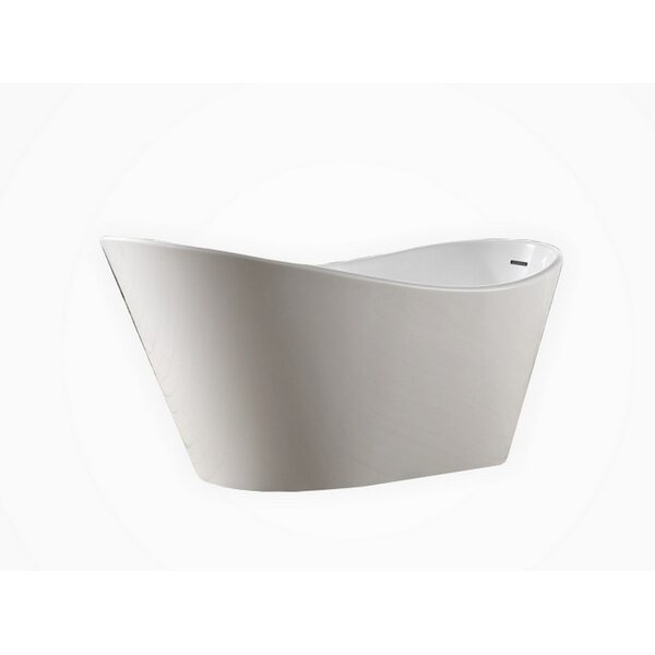Lavello 67 x 32  Freestanding Soaking Bathtub by Kube Bath