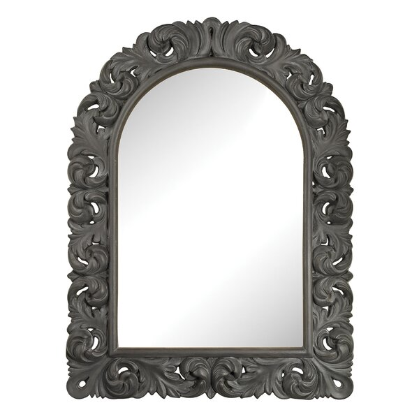 Mitchell Black Ash Arched Wall Mirror by One Allium Way