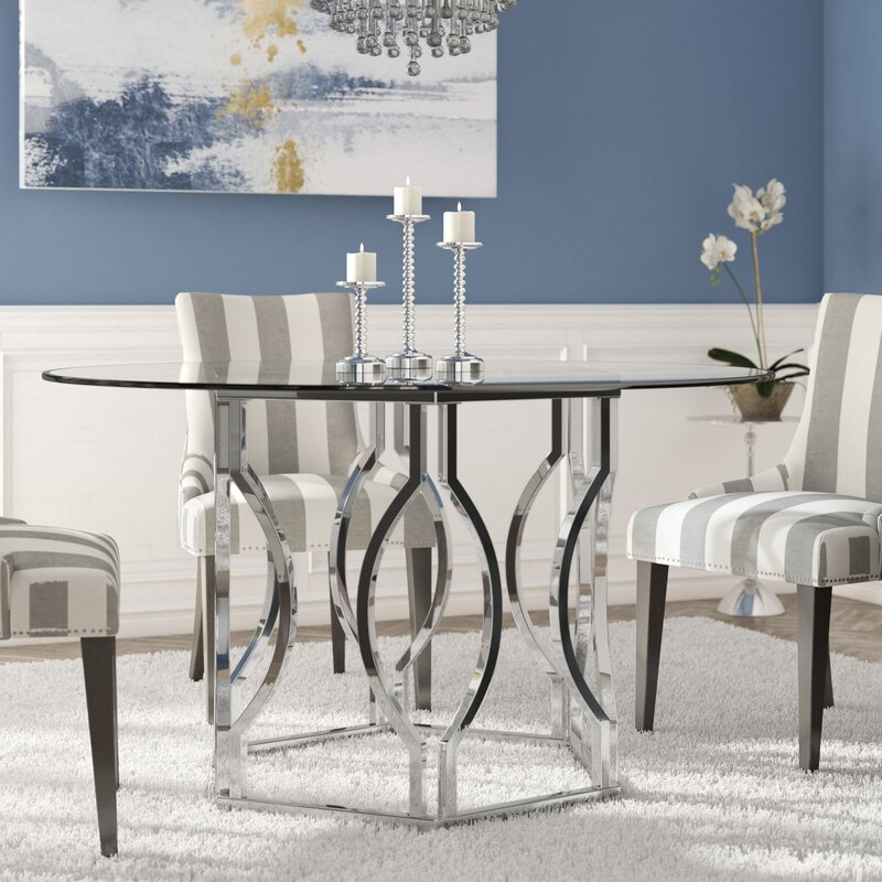 Willa Arlo Interiors Affric Glass Dining Table & Reviews | Wayfair