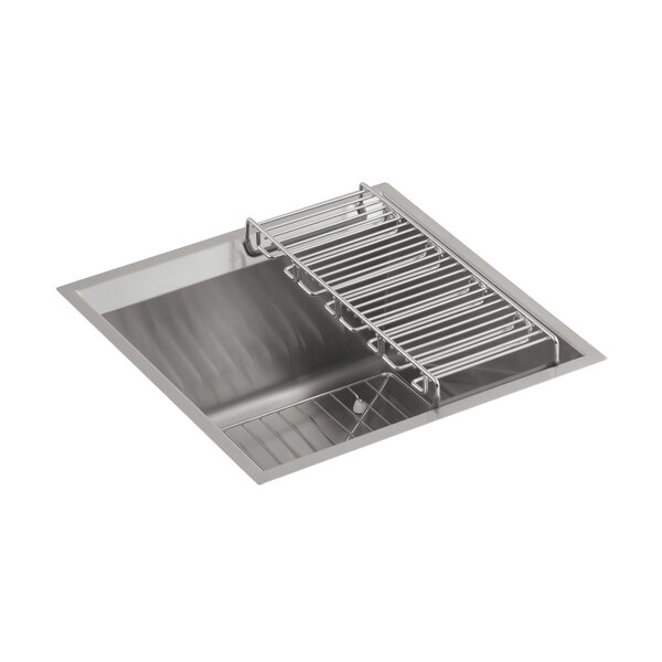 8 Degree Under-Mount Bar Sink with Bottom Bowl Rack and Wine Rack by Kohler