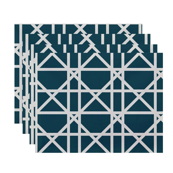 Osage Trellis Geometric Print Placemat by Breakwater Bay