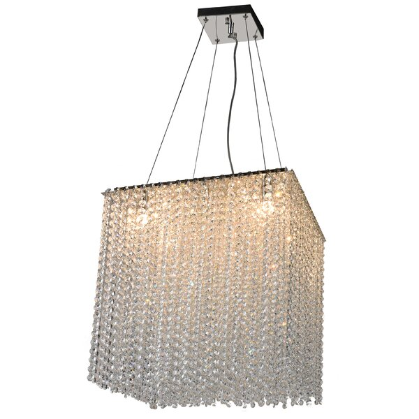 Wilcox 9 - Light Shaded Rectangle / Square Chandelier by Rosdorf Park Rosdorf Park