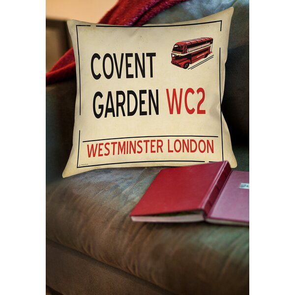 Covent Garden Printed Throw Pillow by Manual Woodworkers & Weavers