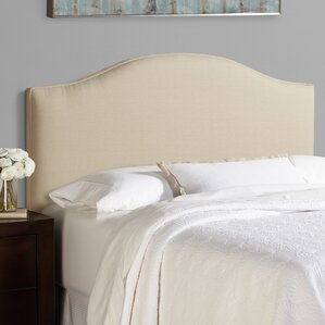 Lesa 100% Linen Arched Upholstered Headboard by House of Hampton