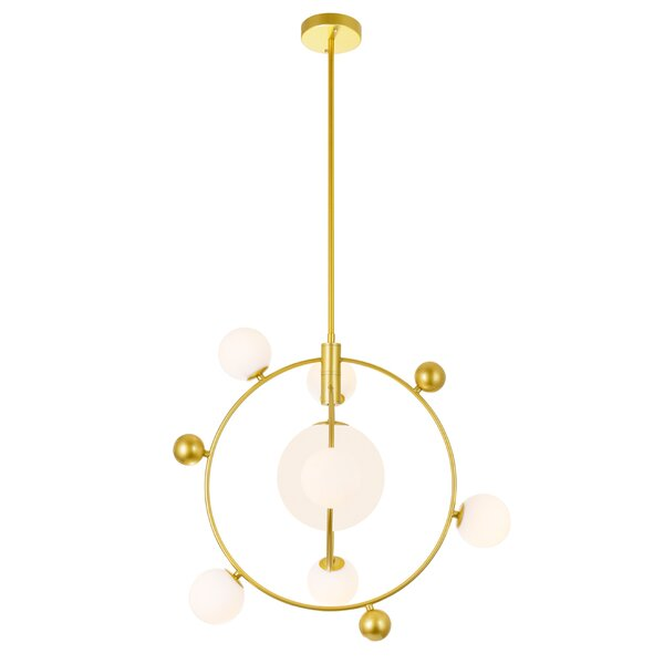 Izaguirre 8 - Light Unique Geometric Chandelier By Everly Quinn