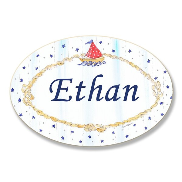 Kids Room Personalization Nautical Boys Wall Plaque by Stupell Industries