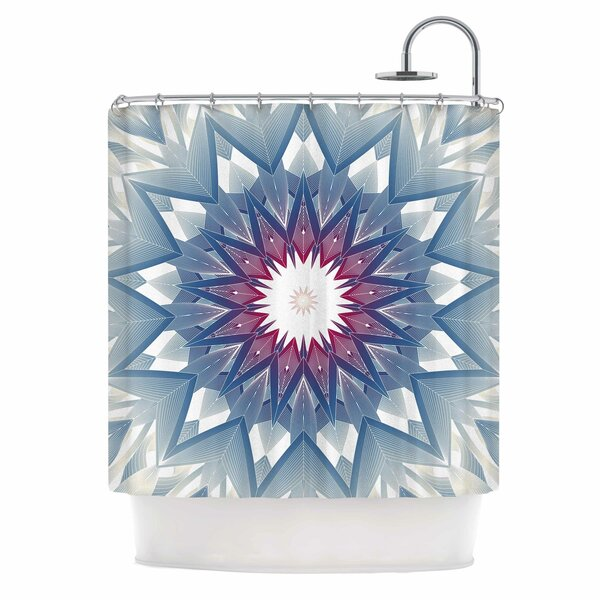 Angelo Cerantola Starburst Digital Shower Curtain by East Urban Home