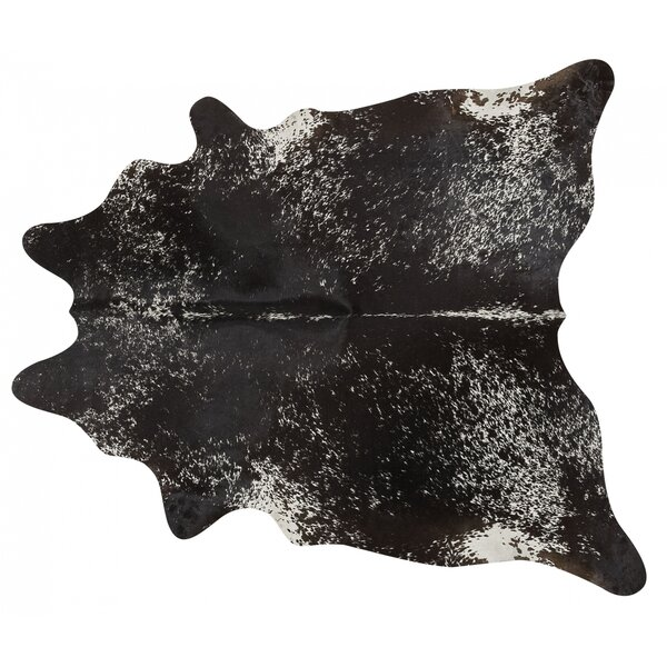 Speckled Hand Woven Cowhide Black Area Rug by Pergamino