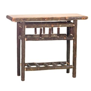 Hickory Open Console Table by Fireside Lodge