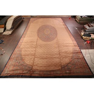 Marita Aubusson Savonnerie French Oriental Hand-Knotted Wool BrownRed IndoorOutdoor Area Rug
