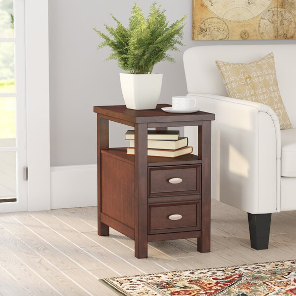 Darius Solid Wood End Table With Storage By Andover Mills™
