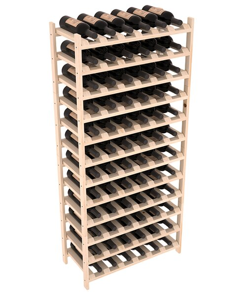 Karnes Pine Stackable 72 Bottle Floor Wine Rack by Red Barrel Studio