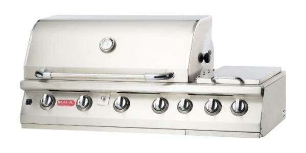 Burner Premium 7-Burner Built-In Propane Gas Grill with Side Burner by Bull Outdoor Products