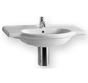 Compare China Ceramic 31 Wall Mount Bathroom Sink with Overflow By Whitehaus Collection