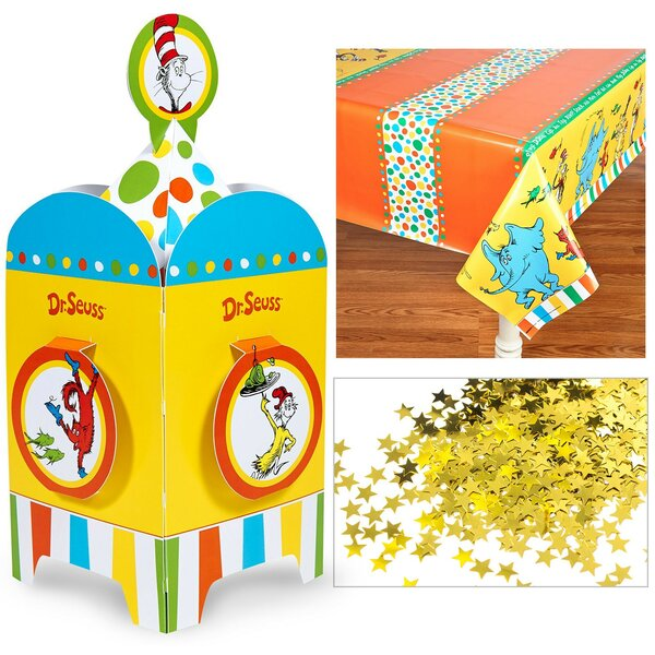 4 Piece Dr. Seuss Table Decorative Kit by NA