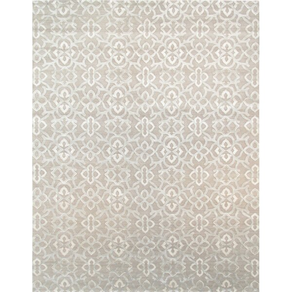 Modern Hand-Knotted Light Gray Area Rug by Pasargad