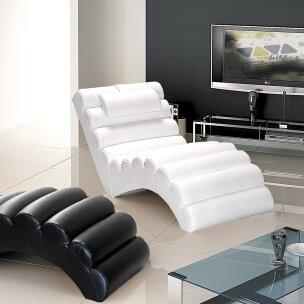 Orren Ellis Dariell Faux Leather Chaise Lounge Wayfair