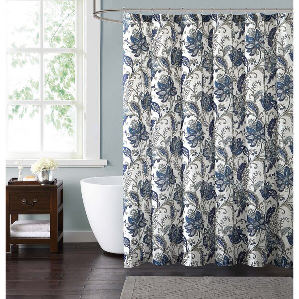 Wali Floral Shower Curtain by Red Barrel Studio