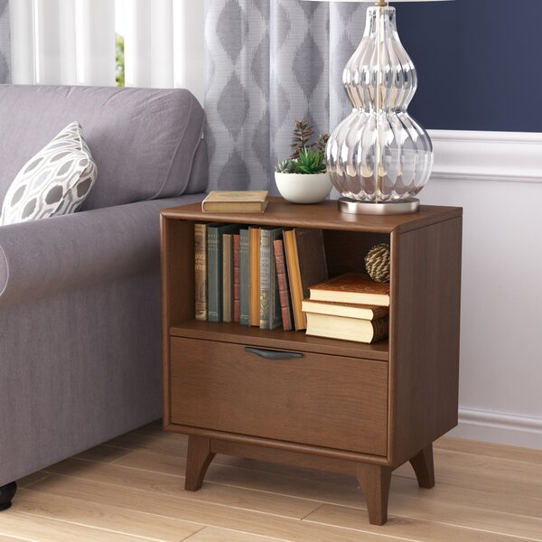 Denzel 1 Drawer Nightstand by Modern Rustic Interiors