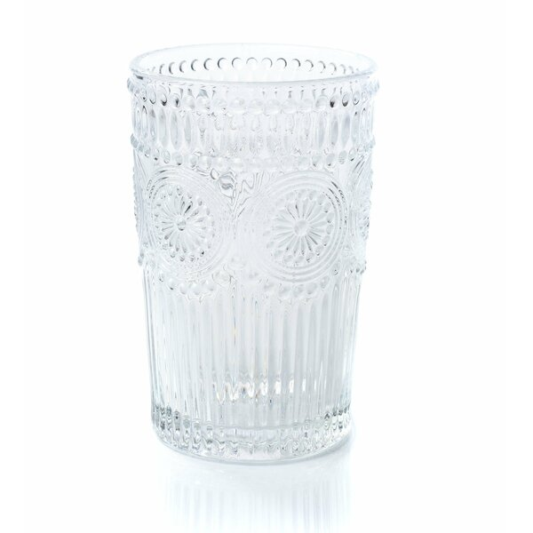 Cynthia Tumbler 12 oz. Glass Highball Glasses (Set of 6) by Astoria Grand