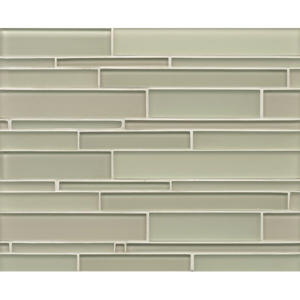 Harbor Glass Mosaic Random Interlocking Gloss/Matte Combo Tile in Adrift by Grayson Martin