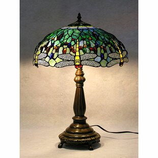 Dragonfly Table Lamp By Warehouse of Tiffany Lamps