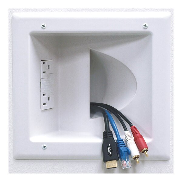 In-Wall Plastic Cable Plate by Peerless-AV