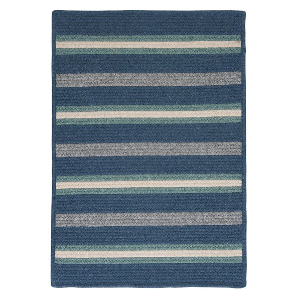 Salisbury Blue Striped Area Rug by Colonial Mills