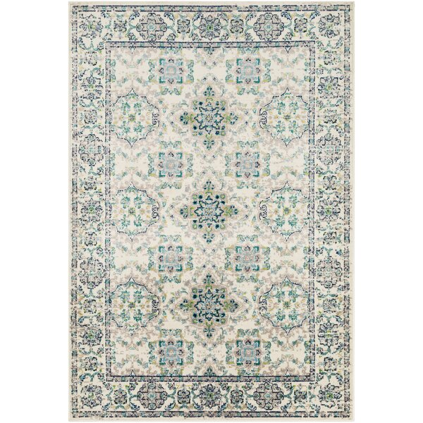 Ramsay Baby Blue/Taupe Area Rug by Bungalow Rose