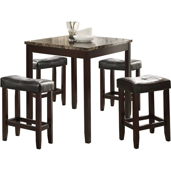 Nakasi Wooden Counter Height 5 Piece Pub Table Set By Winston Porter Today Only Sale