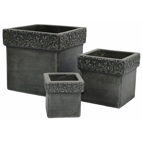 Arend 3 Piece Concrete Planter Box Set by August Grove