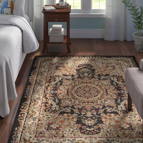 Harrison Black Area Rug by Andover Mills