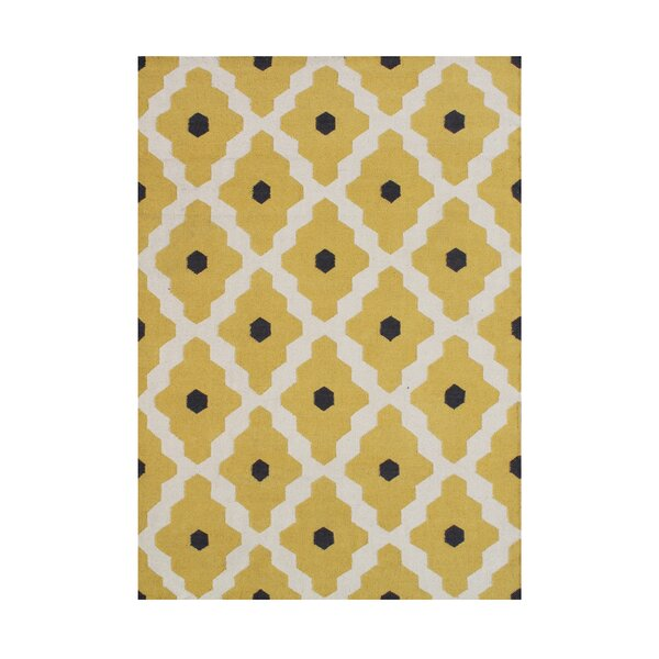 Anninka  Hand-Tufted Yellow Area Rug by Wildon Home ®