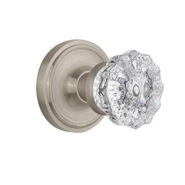 Crystal Glass Passage Door Knob with Classic Roset